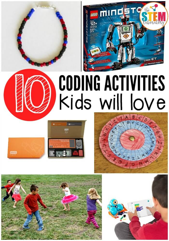 10 coding activities kids will love. Fun games, apps, code breaking, and even a craft!