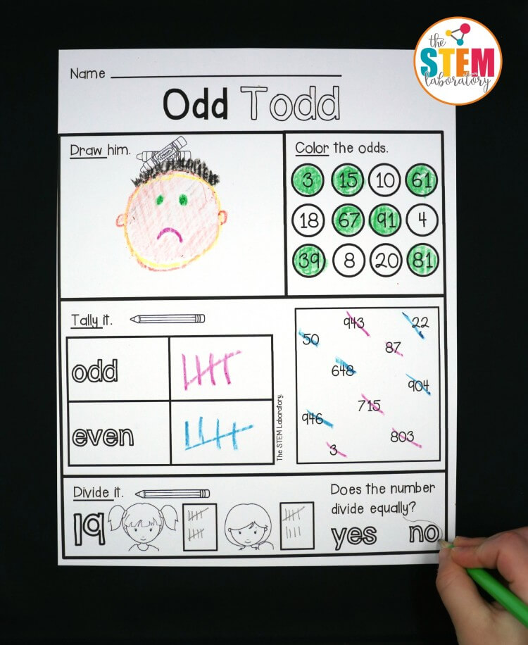 FREE Odd and Even Activity Sheets!