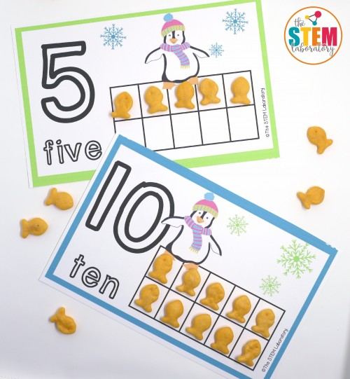 FREE Penguin Counting Mats. My kids will LOVE these!