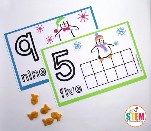 FREE Penguin Counting Mats. Such a fun way to practice counting and number recognition. These would be perfect for a winter unit!