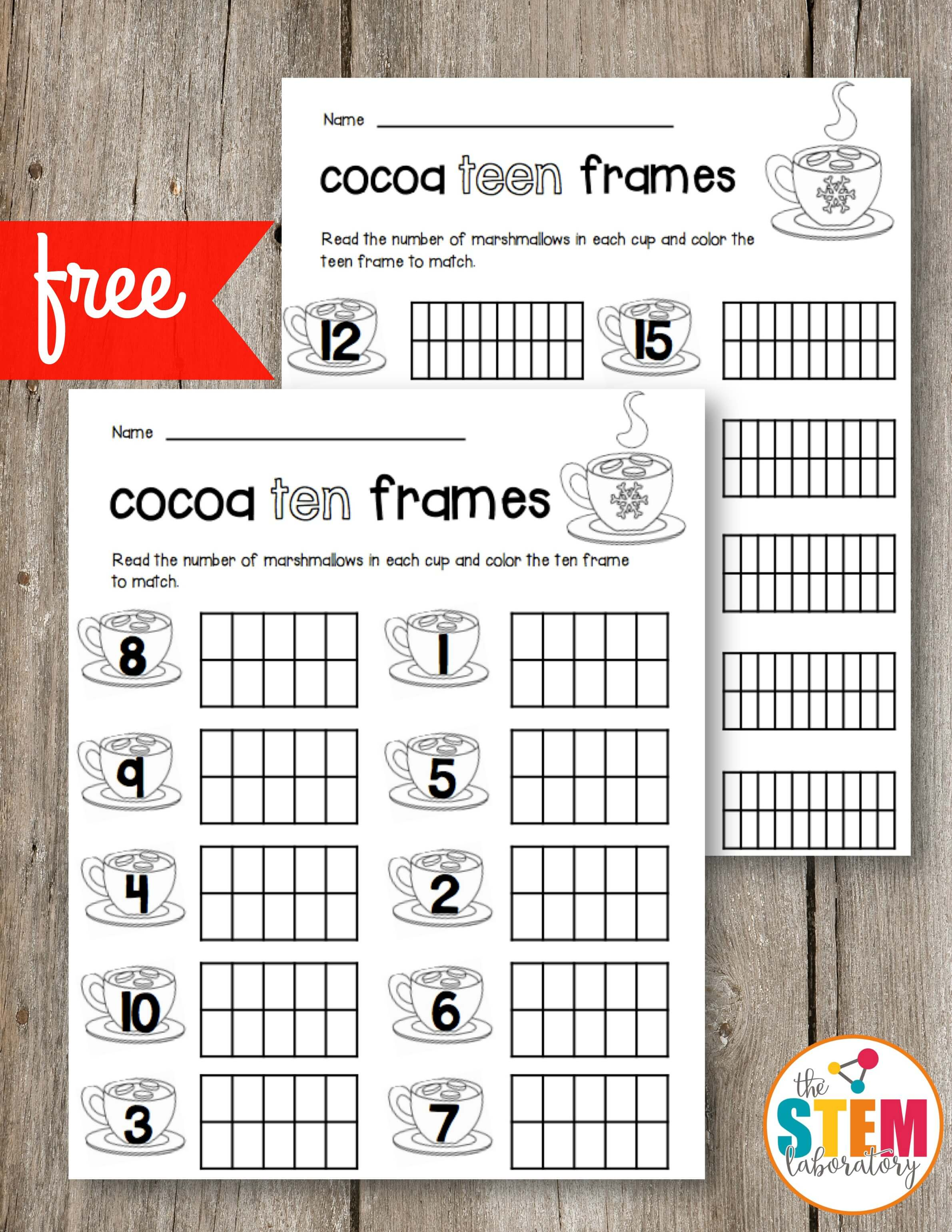 Cocoa Ten Frames