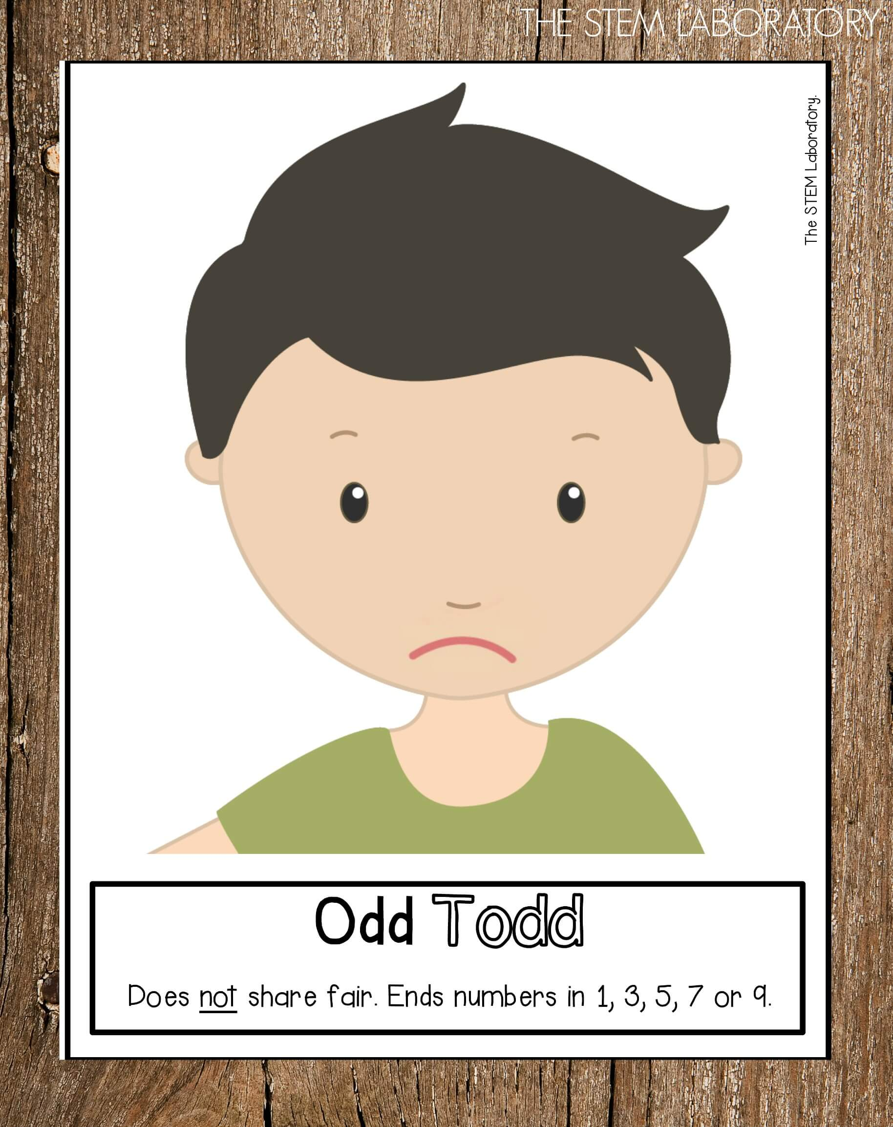 Odd Todd and Even Steven Posters - The Stem Laboratory