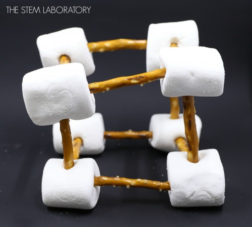 I love this STEM engineering activity for kids. Build with pretzels and marshmallows!