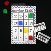 Number Bingo for Practicing the Numbers 1-20