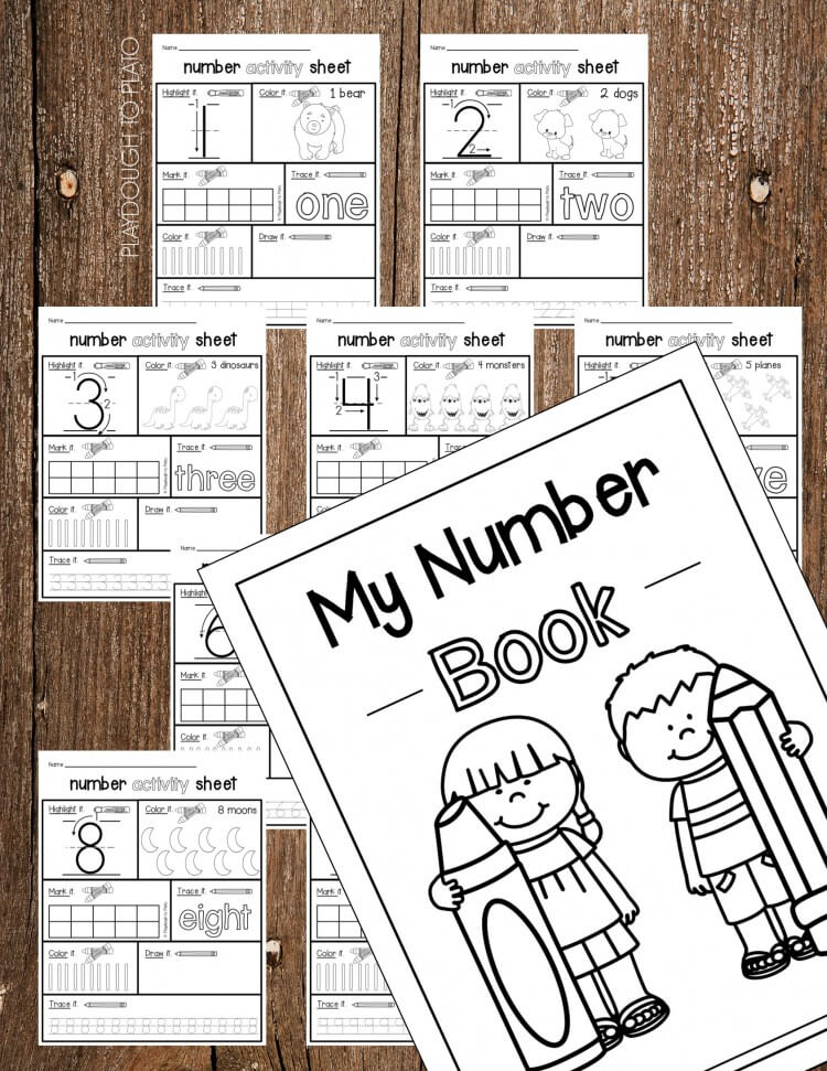 Plus activity sheets practicing number formation and number concept
