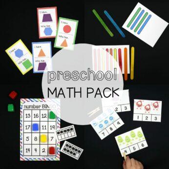 Preschool Math Pack