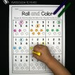Roll the die, circle the number and color the stars to match!