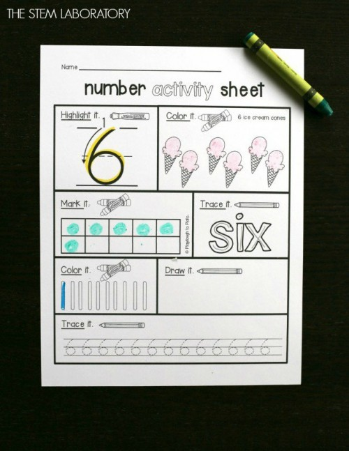 Such a fun way to practice counting and number writing!
