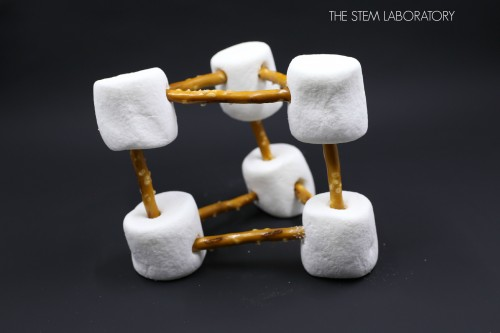 What a motivating STEM project for kids! Make marshmallow and pretzel structures.