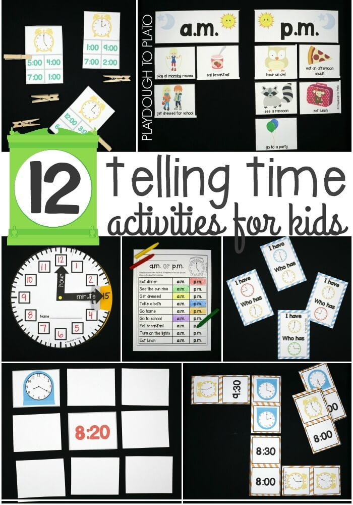 12 Telling Time Activities for Kids