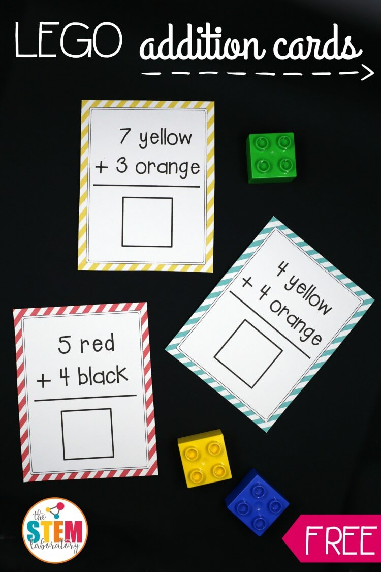 Awesome LEGO Addition Cards! What a fun, hands-on way to teach kids about adding.