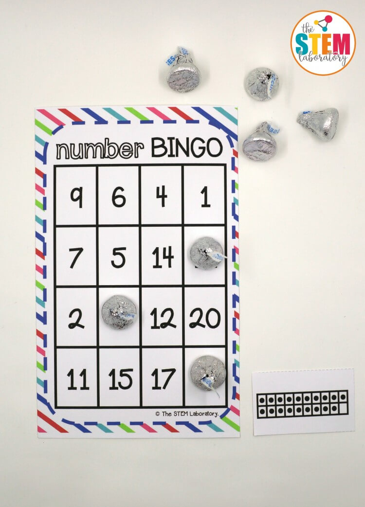 Awesome Number BINGO for kids! I love that it practices those tricky teen numbers!!