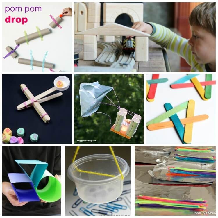 Awesome STEM activities for kids. So many fun engineering projects in this roundup!