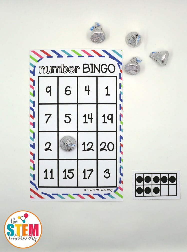 Awesome number BINGO for kids! I love that the free math game practices those tricky teen numbers too.