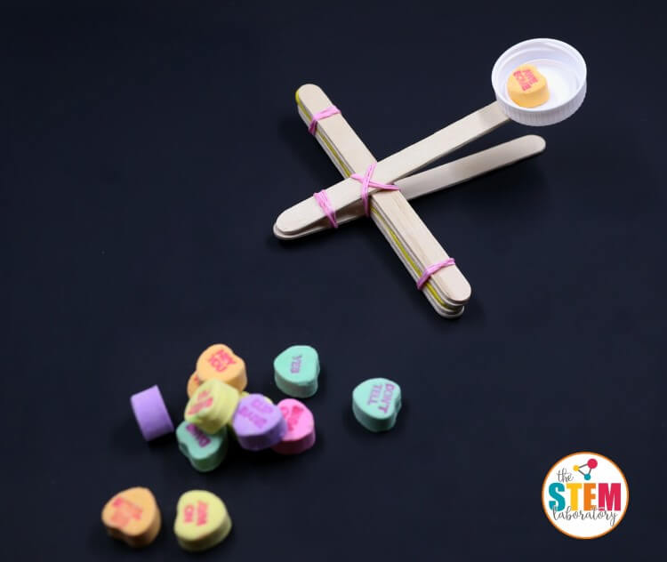 Conversation Heart Catapults!! Awesome STEM activity for Valentine's Day!