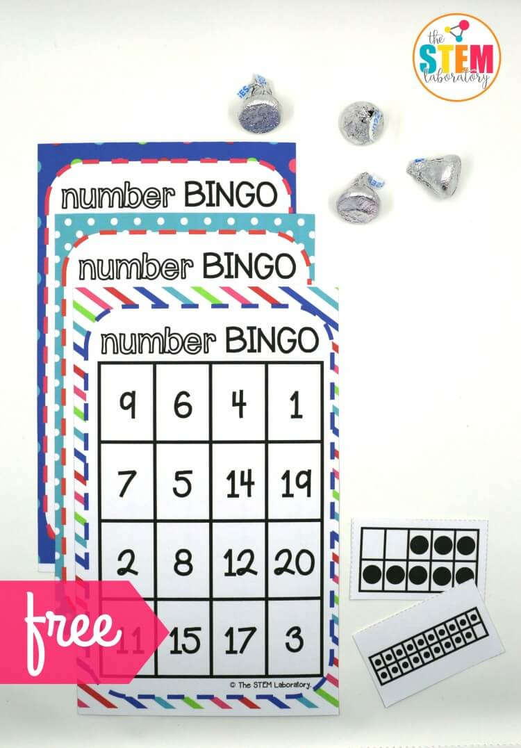 I love this Number BINGO math game for kids! So excited that it practices those tricky teen numbers too.