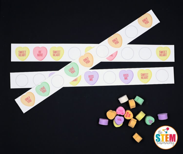 My kids are going to LOVE these colorful conversation heart pattern strips!!