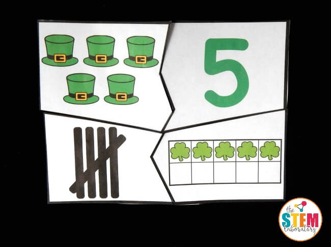 St. Patrick's Day Number Puzzle 5