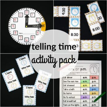 Telling Time Activity Pack. So many fun ways to teach kids how to tell time!