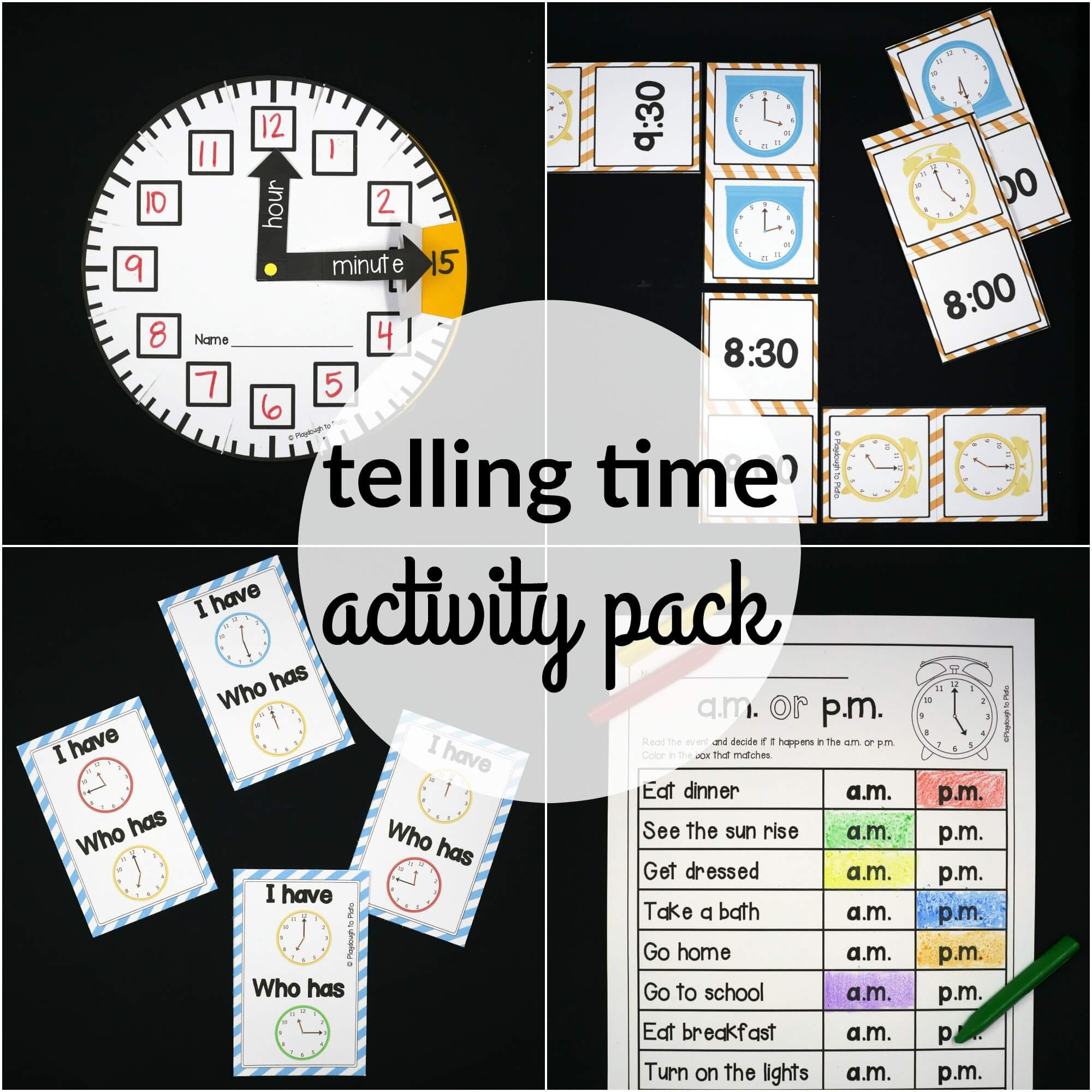 Telling time activity pack the stem laboratory telling time activity pack ibookread Download