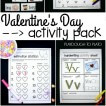 Fun Valentine's Day activity pack for preschool and kindergarten! ABC games, sight word activities, conversation heart estimating, math games... lots of ideas!