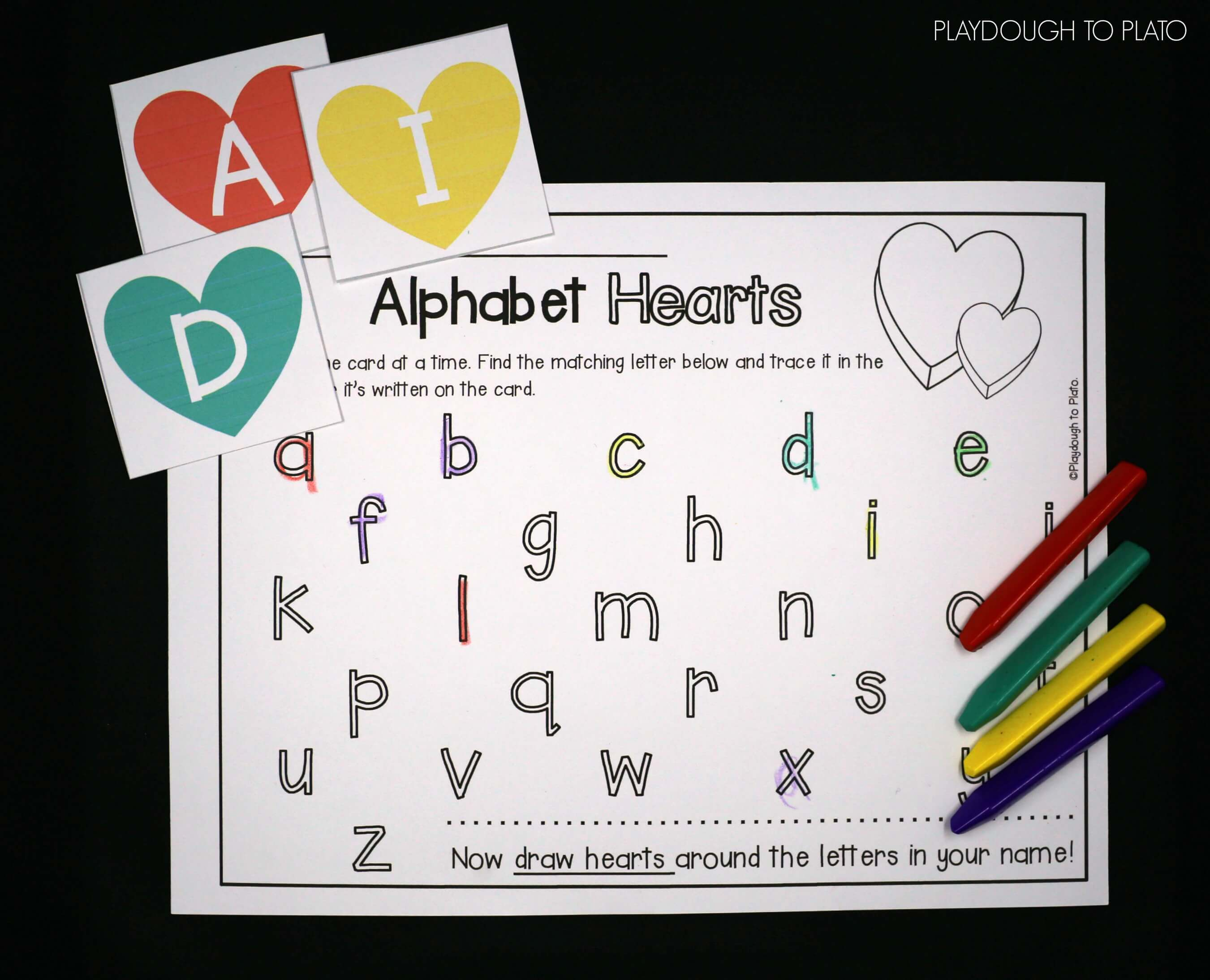 Great alphabet game for valentines day color each letter to match great alphabet game for valentines day color each letter to match the abc heart ccuart Choice Image