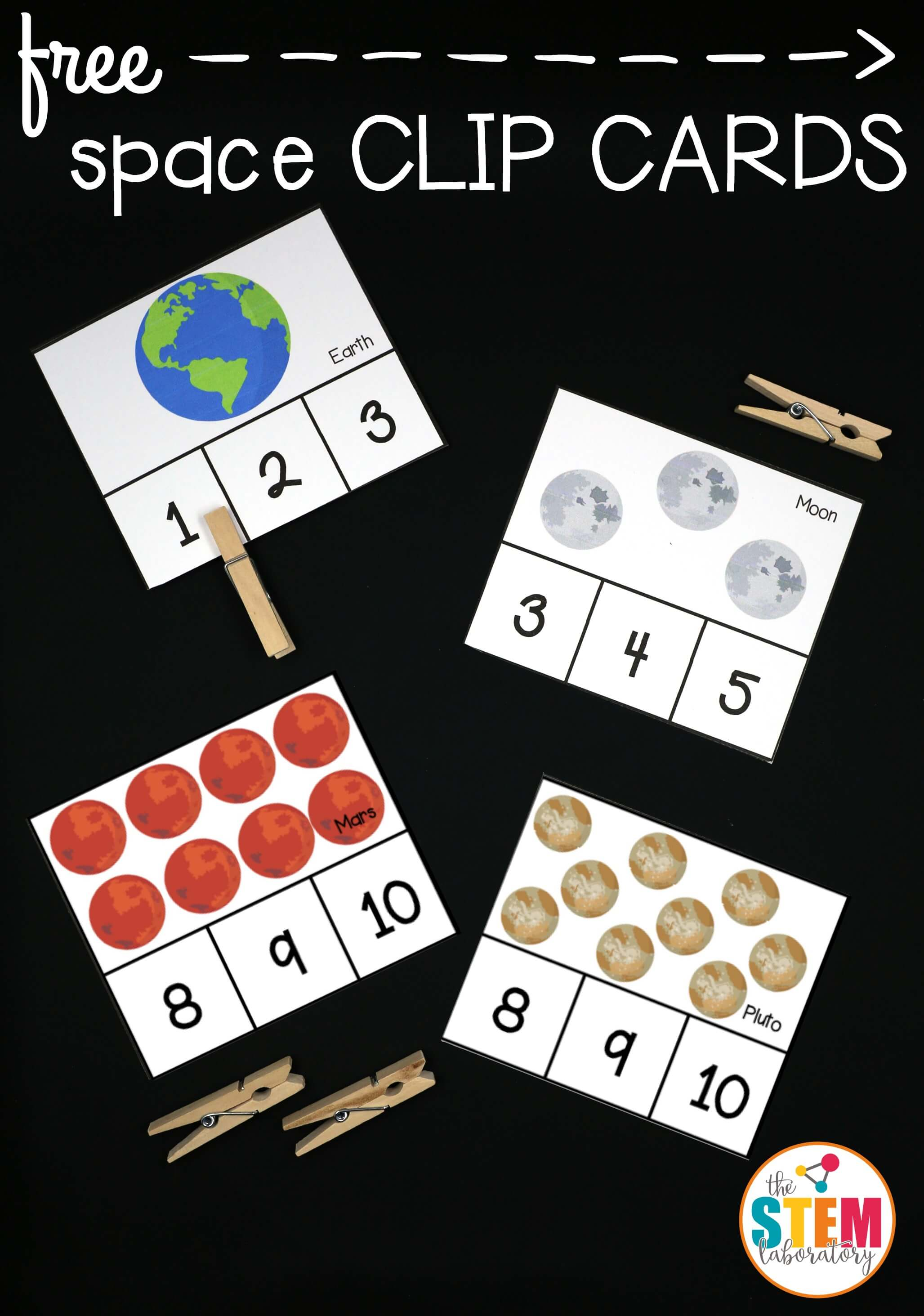 Outer Space Clip Cards - The Stem Laboratory