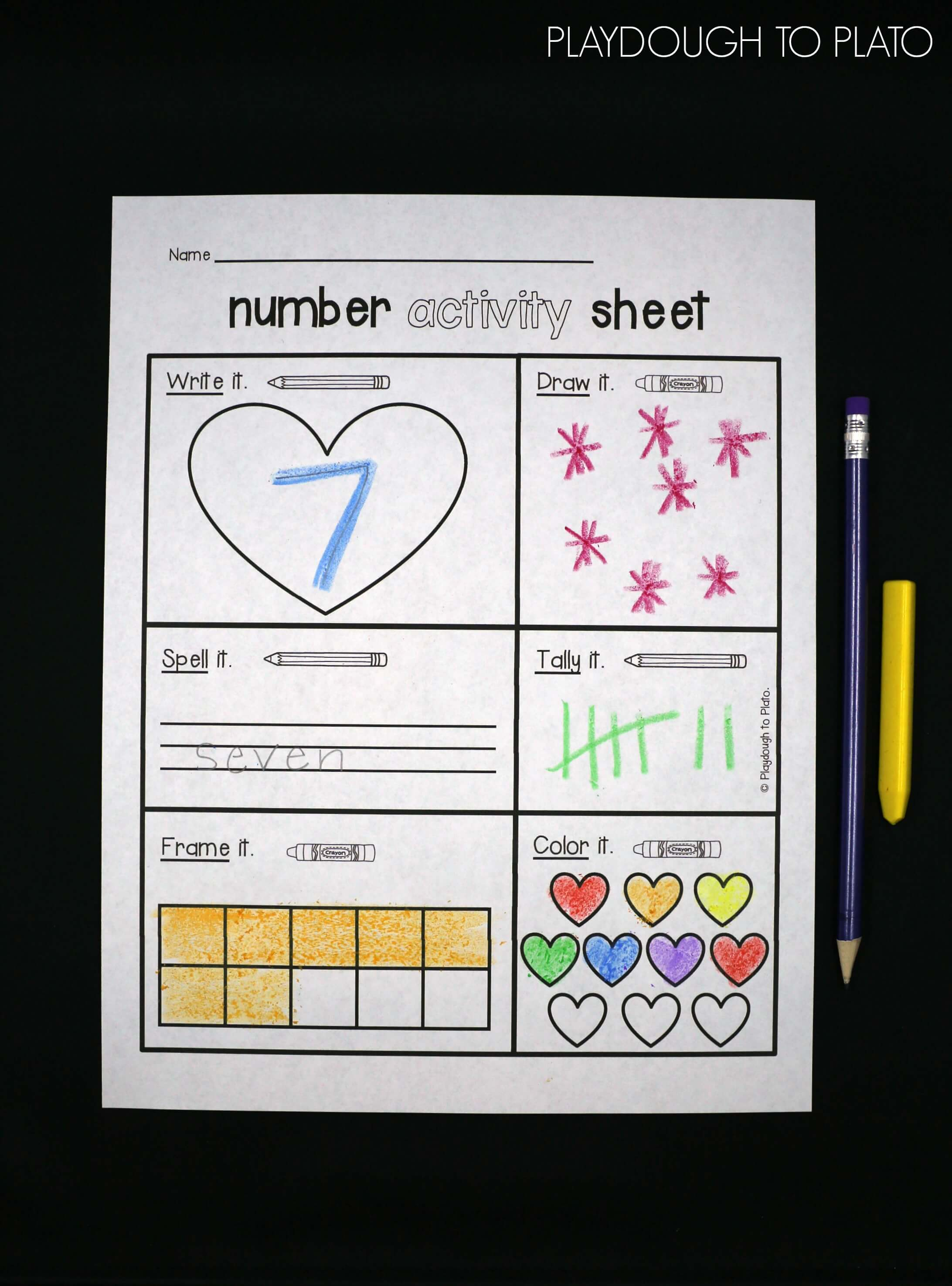 Number activity sheets for 1-10 and another for 10-20. Such a great ...