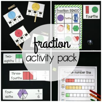 Square Fraction Activity Pack