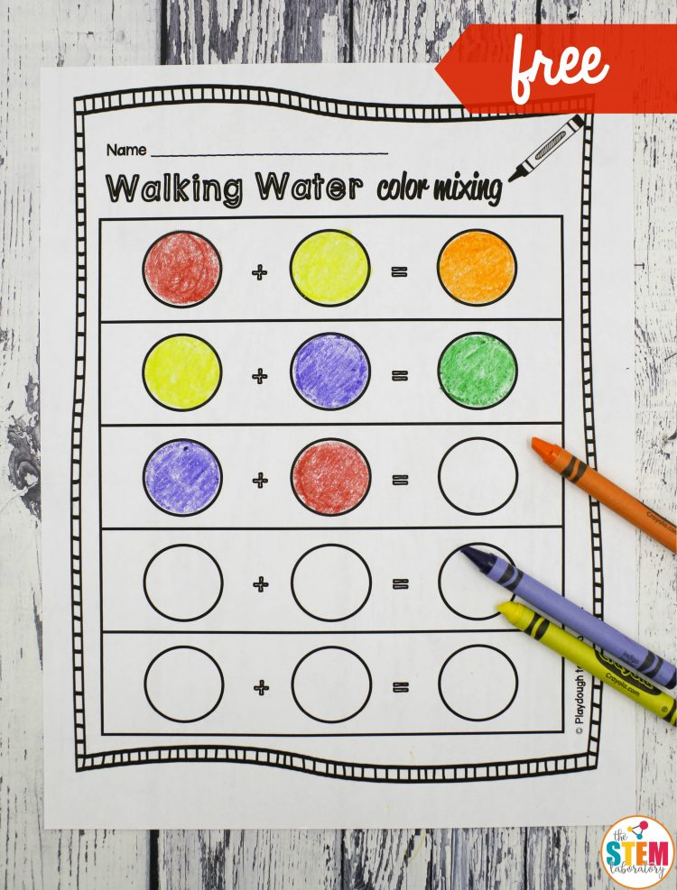 Coloring for Kids color mixing kids : Walking Water Rainbow - The Stem Laboratory