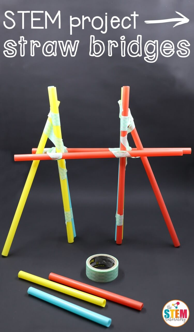 What a fun STEM project for kids! Build straw bridges to learn about engineering.