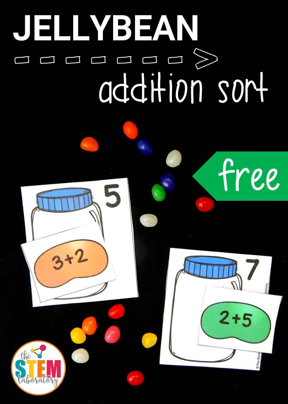 This free jellybean addition sort is a fun, hands on way to practice addition within 10!