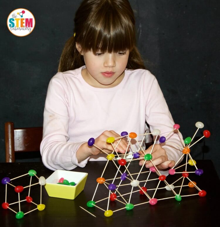 Awesome engineering challenge for kids! Build jellybean STEM structures.
