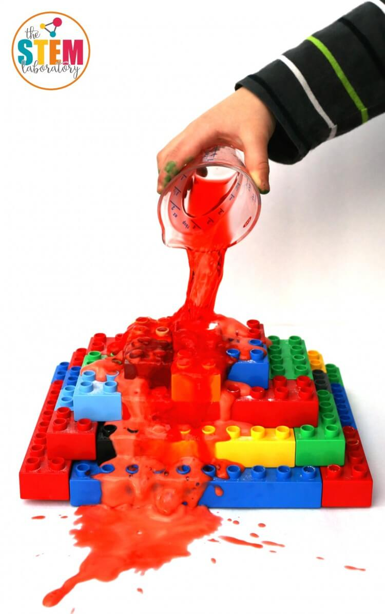 Crazy awesome science for kids! Make LEGO volcanoes that really erupt. It's so cool - and surprisingly easy!