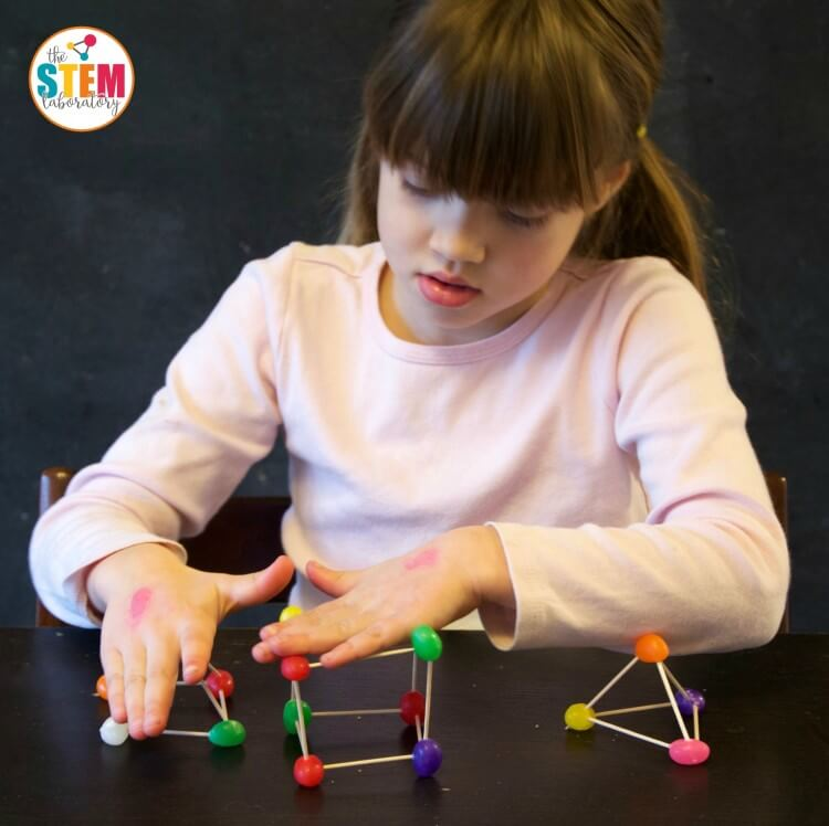 Great engineering project for kids! Make jellybean structures and test their strength.