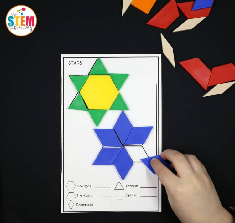 I love these free space pattern block mats! Such a fun math activity for preschool or kindergarten.