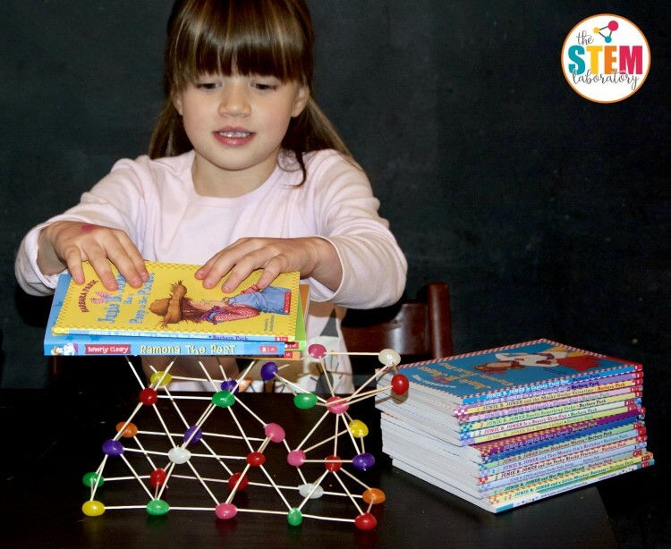 I love this engineering project for kids! Build and then test the strength of different jellybean towers!