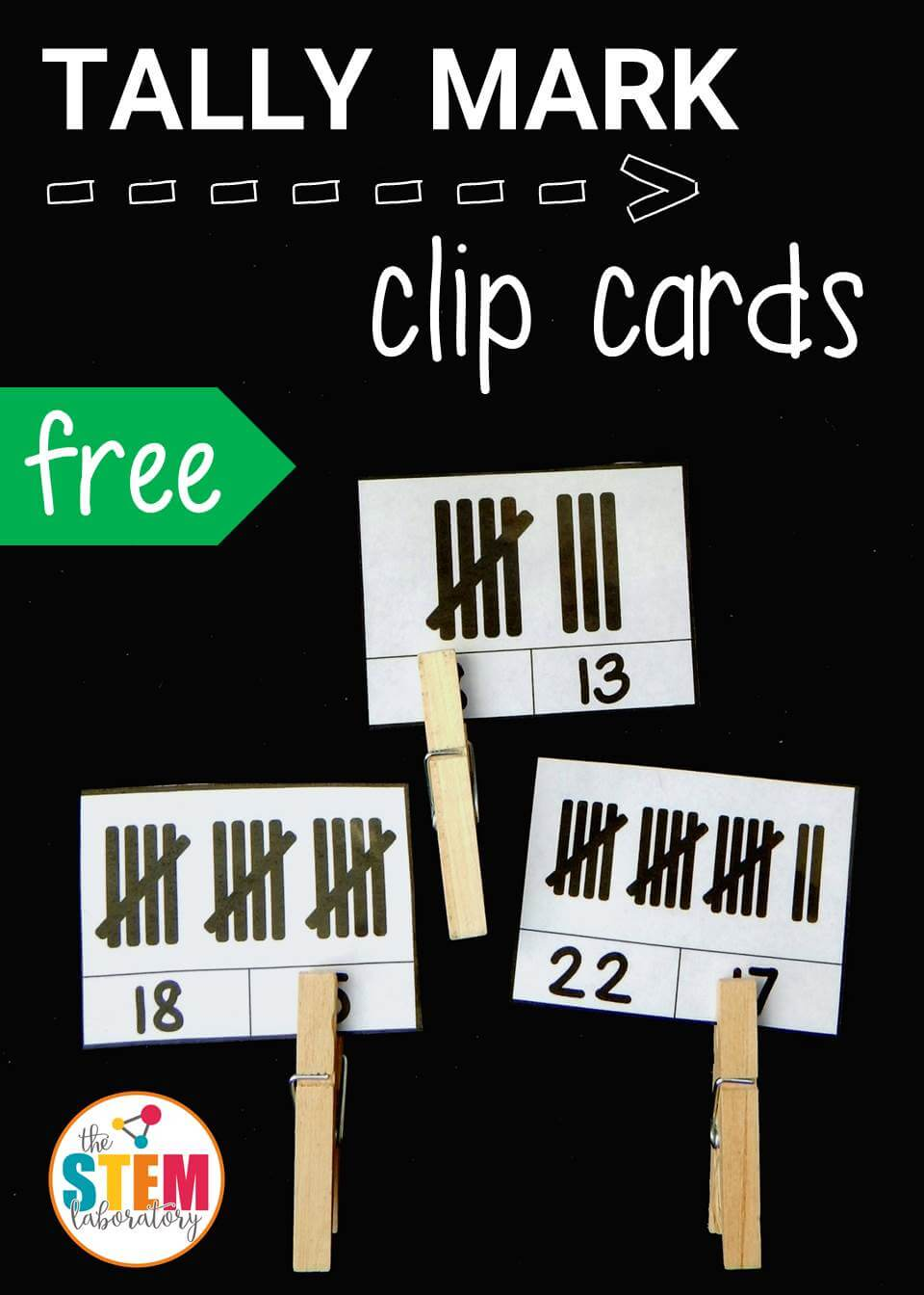 Tally Mark Clip Cards The Stem Laboratory