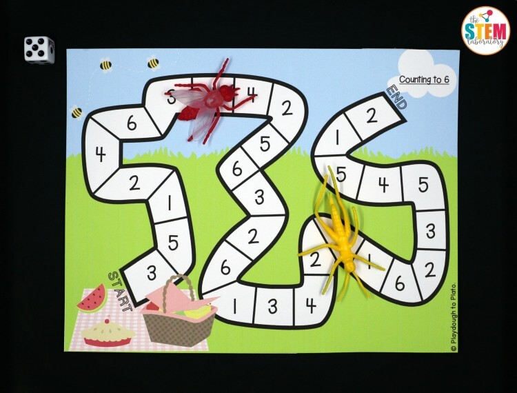 Awesome bug math game for preschool!