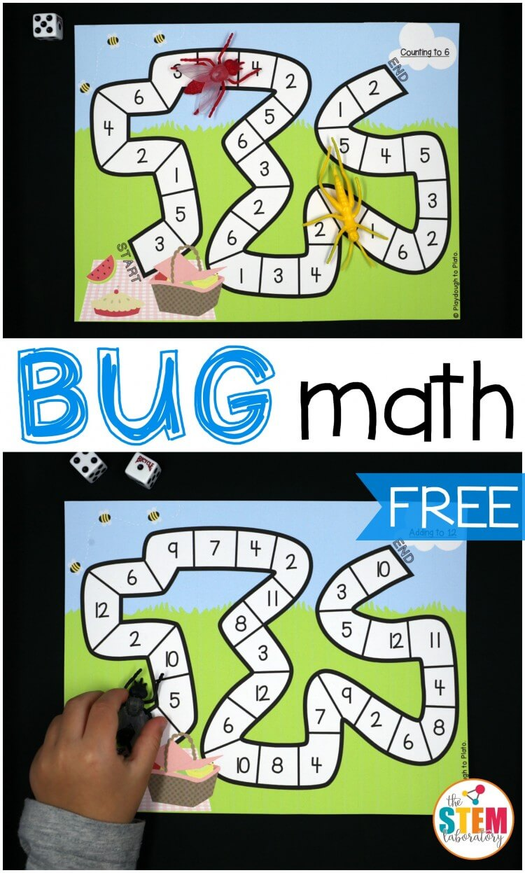 Free bug math games for kids!