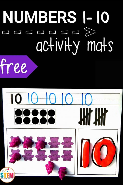 Numbers 1-10 Activity Mats