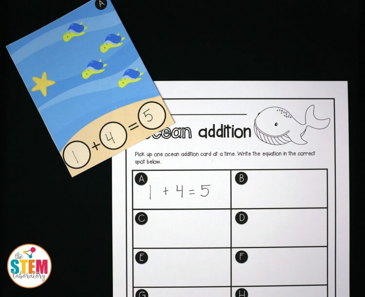Ocean addition write and wipe cards!