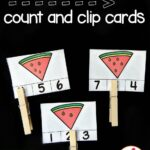 Watermelon Seed Count and Clip Cards