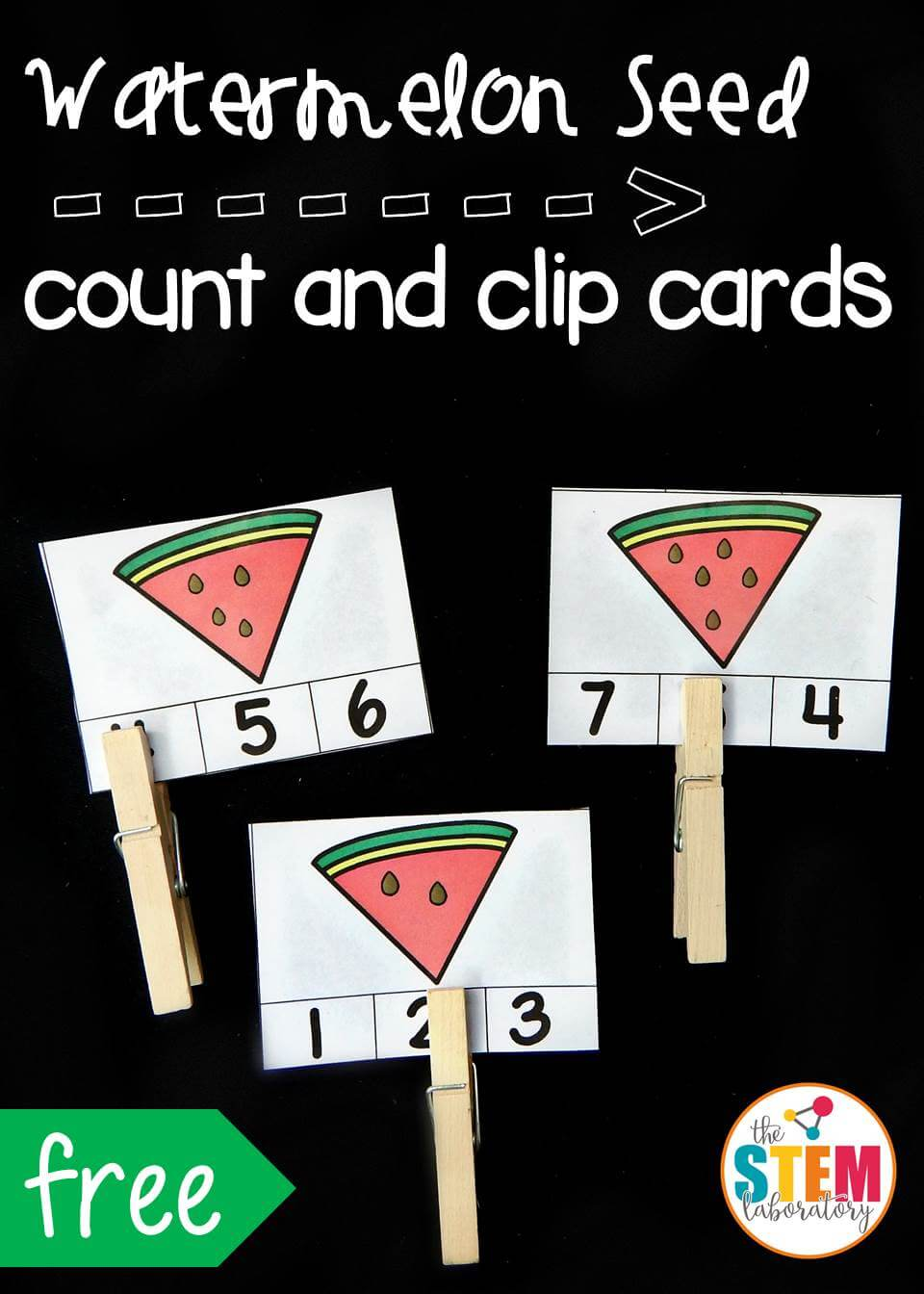 watermelon seed count and clip pin