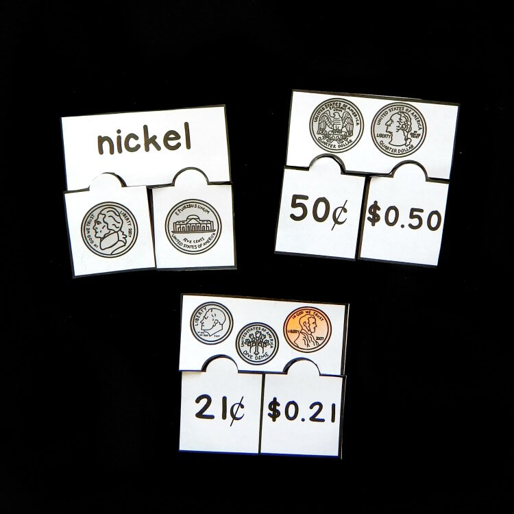 counting coins puzzles no text