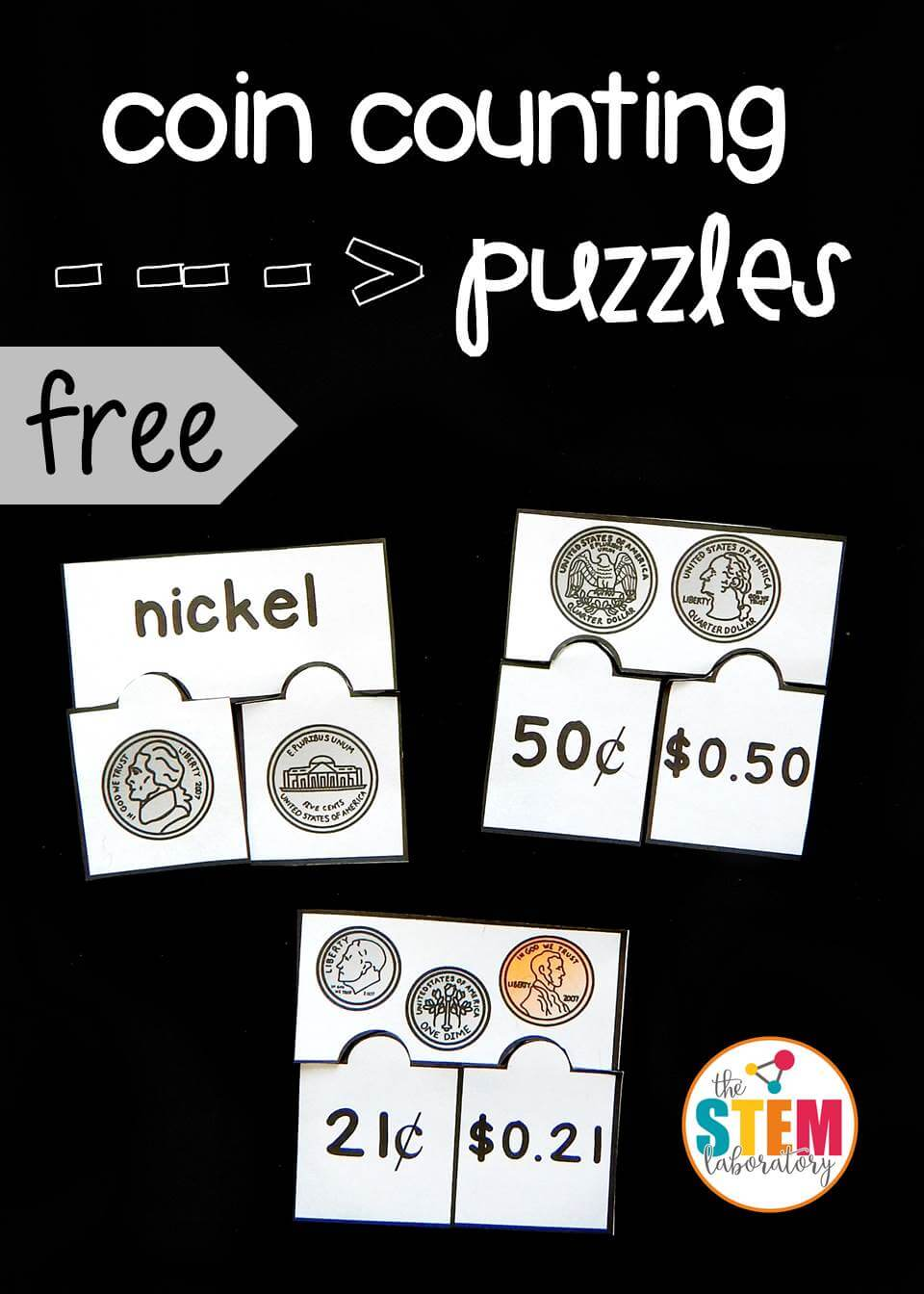 counting coins puzzles pin