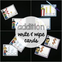 Addition Write and Wipe Cards - 300