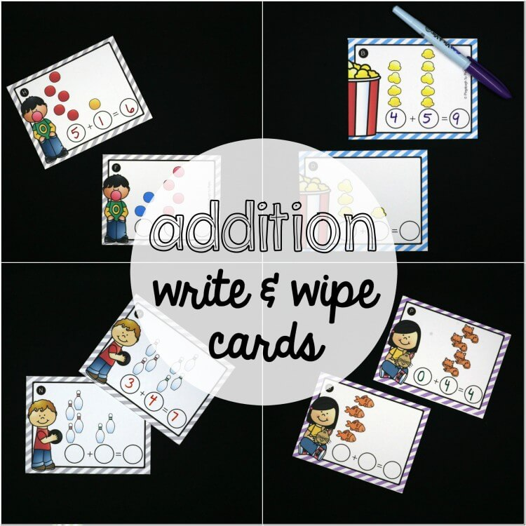 Addition Write and Wipe Cards!