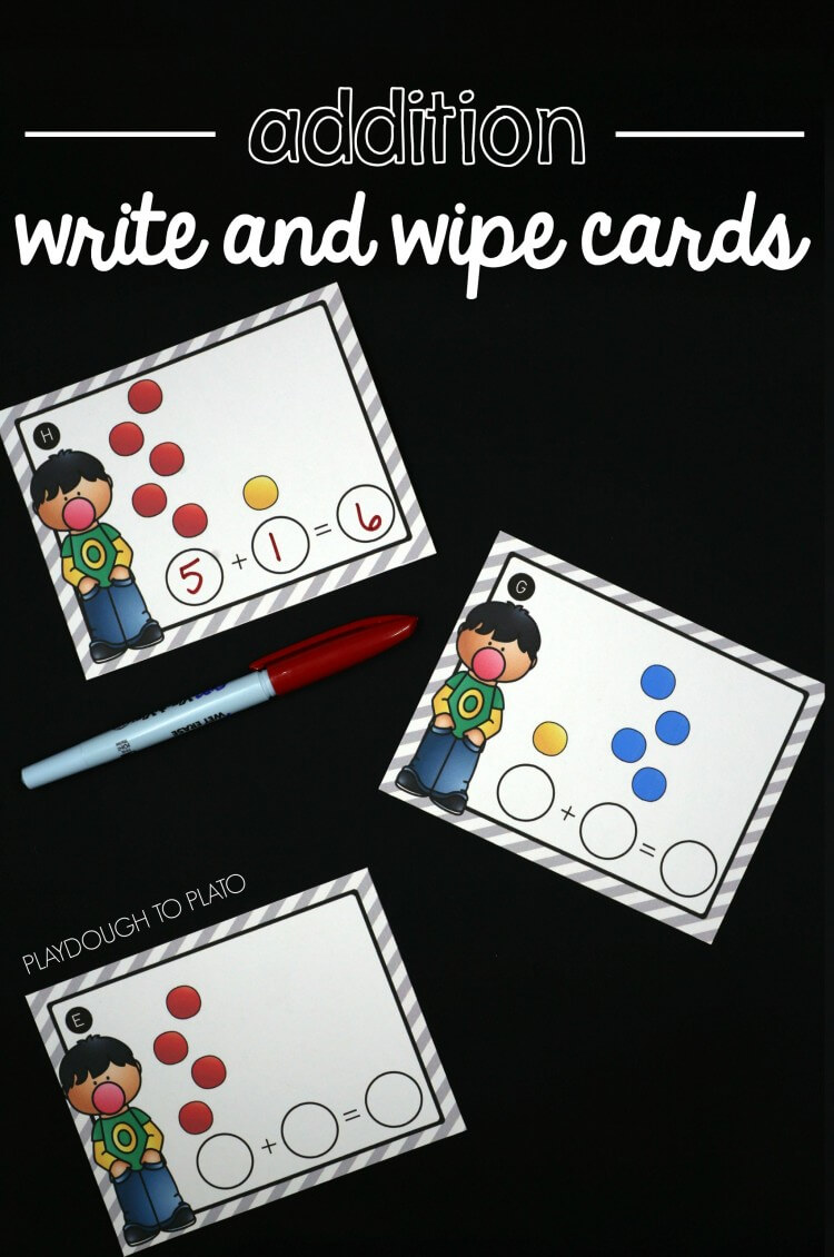Addition Write and Wipe Cards from The STEM Laboratory