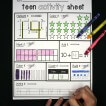 Teen activity sheets!